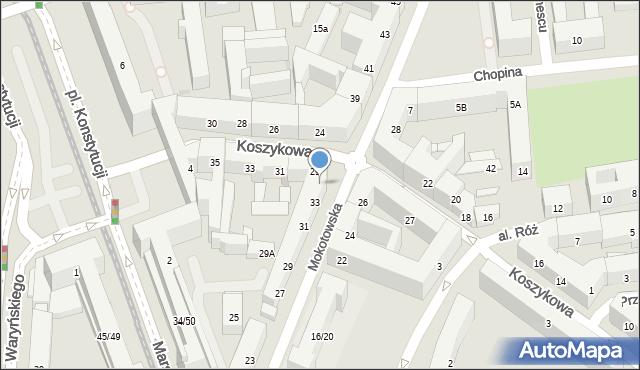 Warszawa, Mokotowska, 35, mapa Warszawy