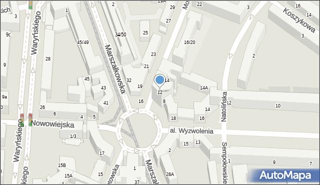 Warszawa, Mokotowska, 12, mapa Warszawy