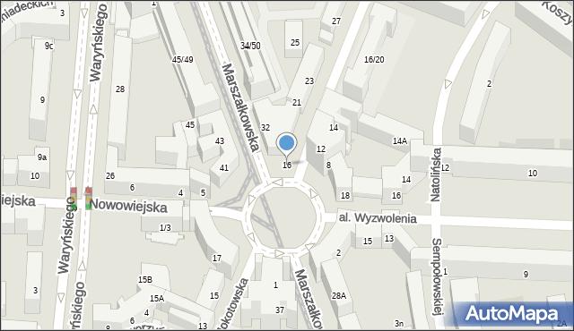 Warszawa, Mokotowska, 16, mapa Warszawy