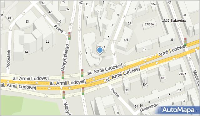 Warszawa, Mokotowska, 1, mapa Warszawy