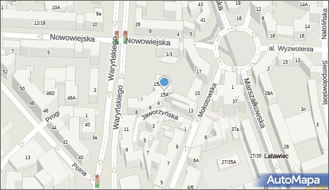Warszawa, Mokotowska, 15A, mapa Warszawy