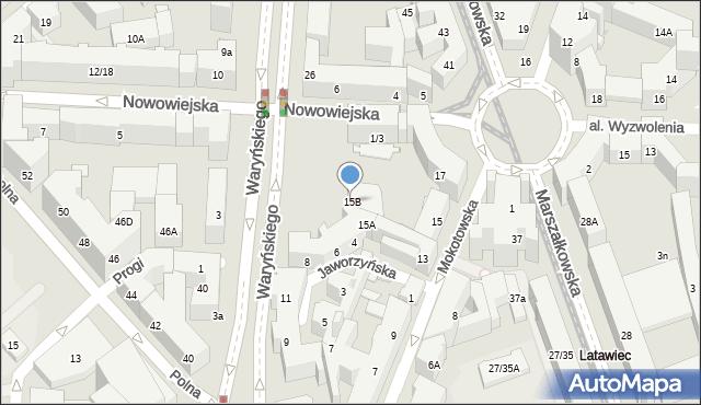 Warszawa, Mokotowska, 15B, mapa Warszawy