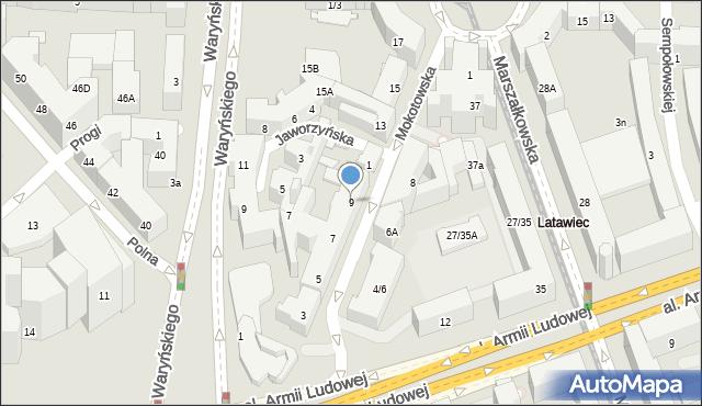Warszawa, Mokotowska, 9, mapa Warszawy