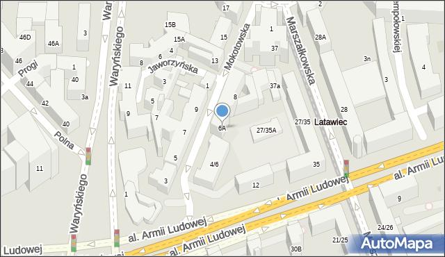 Warszawa, Mokotowska, 6A, mapa Warszawy