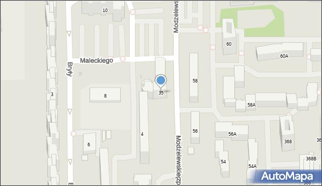 Warszawa, Modzelewskiego Zygmunta, 35, mapa Warszawy