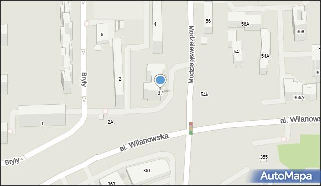 Warszawa, Modzelewskiego Zygmunta, 37, mapa Warszawy