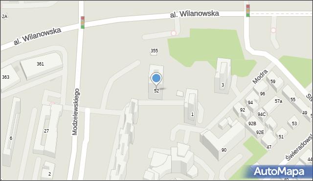 Warszawa, Modzelewskiego Zygmunta, 52, mapa Warszawy