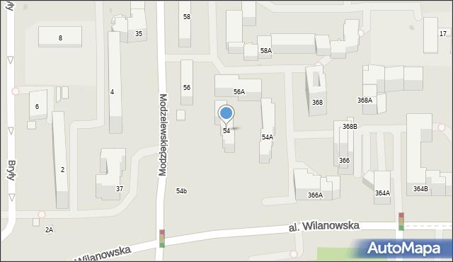 Warszawa, Modzelewskiego Zygmunta, 54, mapa Warszawy