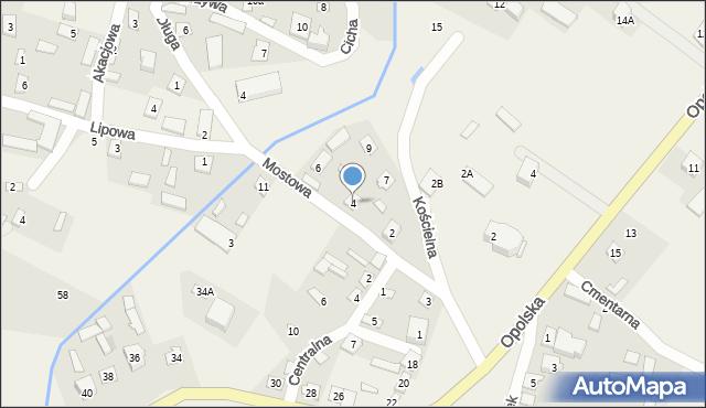 Wrzelowiec, Mostowa, 4, mapa Wrzelowiec