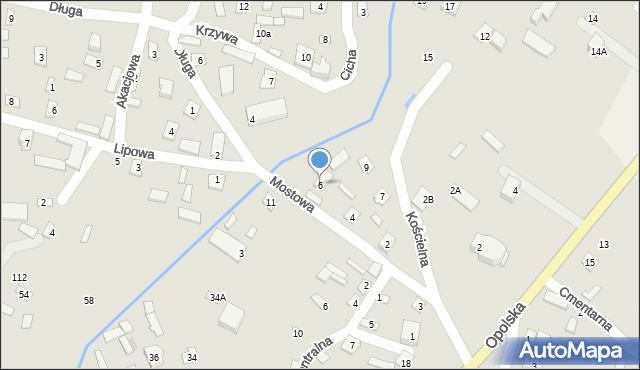 Wrzelowiec, Mostowa, 6, mapa Wrzelowiec
