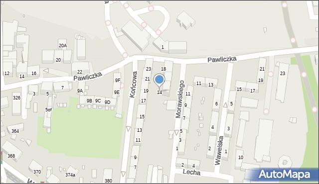 Zabrze, Morawskiego Franciszka, 14, mapa Zabrza