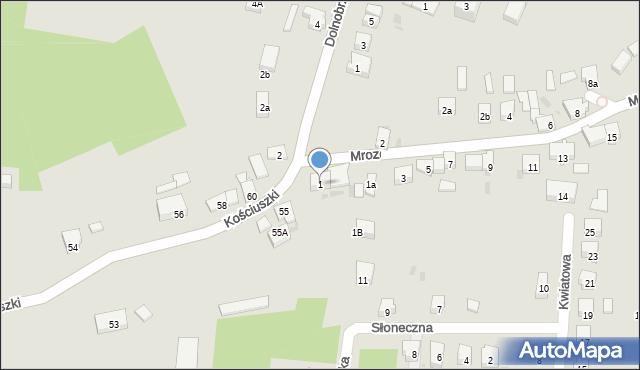 Miękinia, Mrozowska, 1, mapa Miękinia