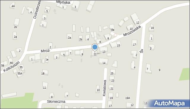 Miękinia, Mrozowska, 11, mapa Miękinia