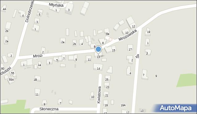 Miękinia, Mrozowska, 13, mapa Miękinia