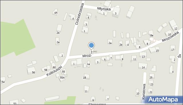 Miękinia, Mrozowska, 2, mapa Miękinia