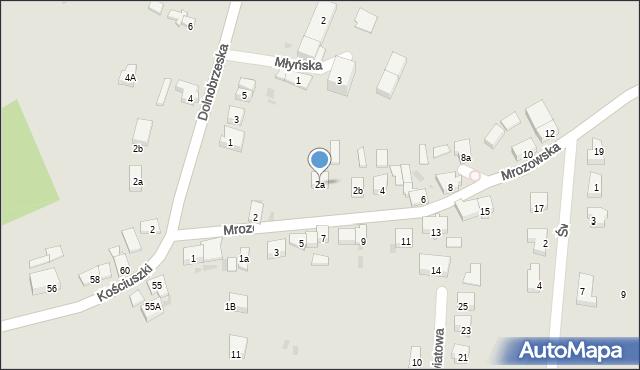 Miękinia, Mrozowska, 2a, mapa Miękinia