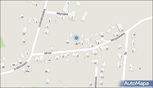 Miękinia, Mrozowska, 2b, mapa Miękinia