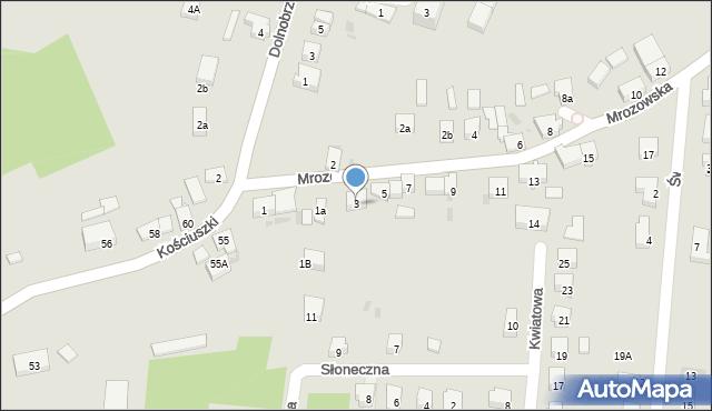 Miękinia, Mrozowska, 3, mapa Miękinia