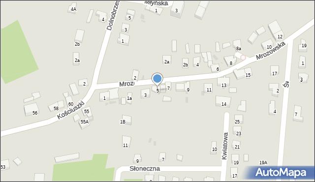 Miękinia, Mrozowska, 5, mapa Miękinia
