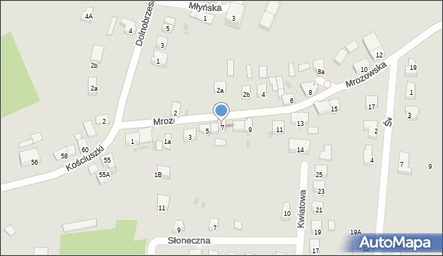 Miękinia, Mrozowska, 7, mapa Miękinia