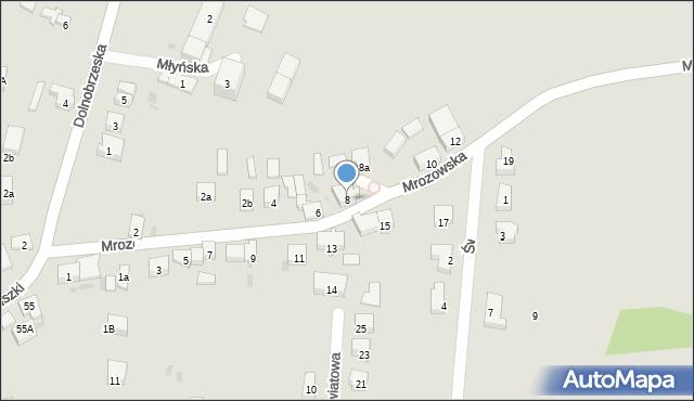 Miękinia, Mrozowska, 8, mapa Miękinia