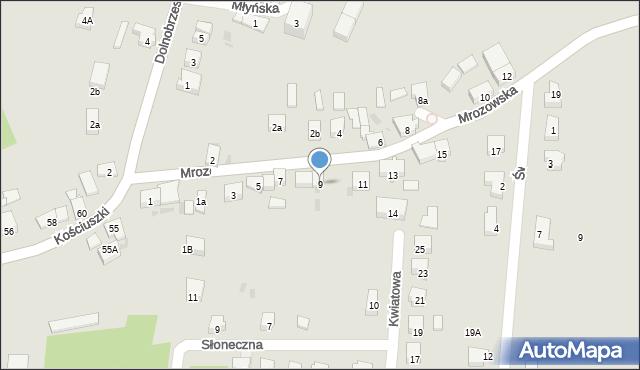 Miękinia, Mrozowska, 9, mapa Miękinia