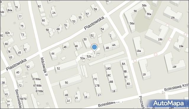 Gdańsk, Mściwoja II, 52c, mapa Gdańska