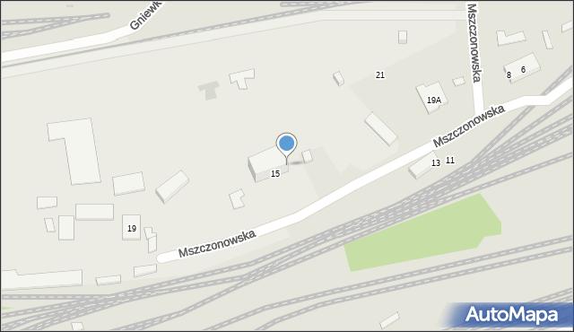 Warszawa, Mszczonowska, 17, mapa Warszawy