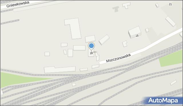 Warszawa, Mszczonowska, 19, mapa Warszawy