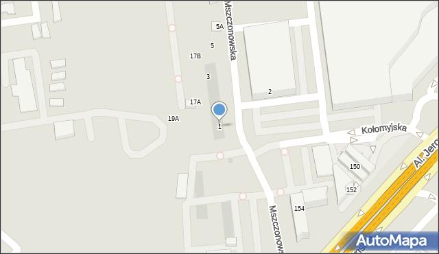 Warszawa, Mszczonowska, 1, mapa Warszawy