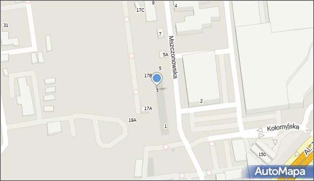 Warszawa, Mszczonowska, 3, mapa Warszawy