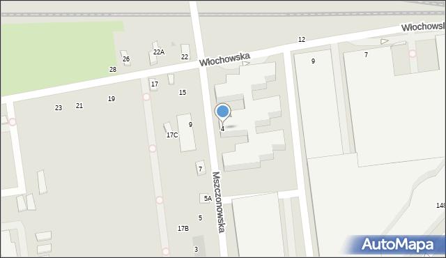 Warszawa, Mszczonowska, 4c, mapa Warszawy