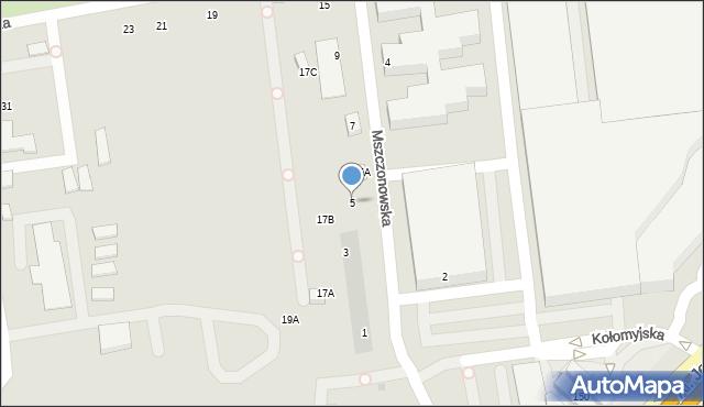 Warszawa, Mszczonowska, 5, mapa Warszawy