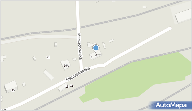 Warszawa, Mszczonowska, 6, mapa Warszawy