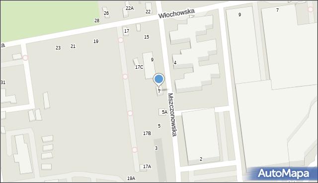 Warszawa, Mszczonowska, 7, mapa Warszawy