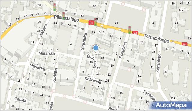 Bytom, Murarska, 11, mapa Bytomia
