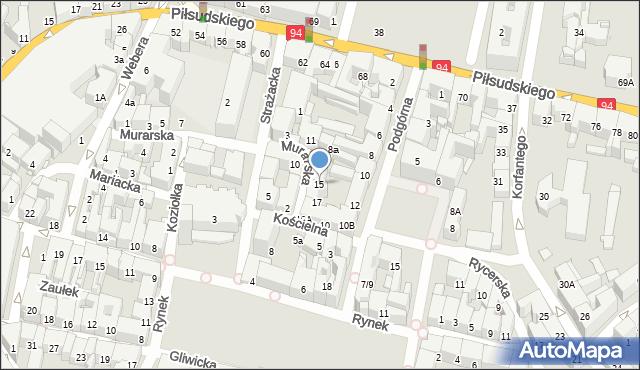 Bytom, Murarska, 15, mapa Bytomia