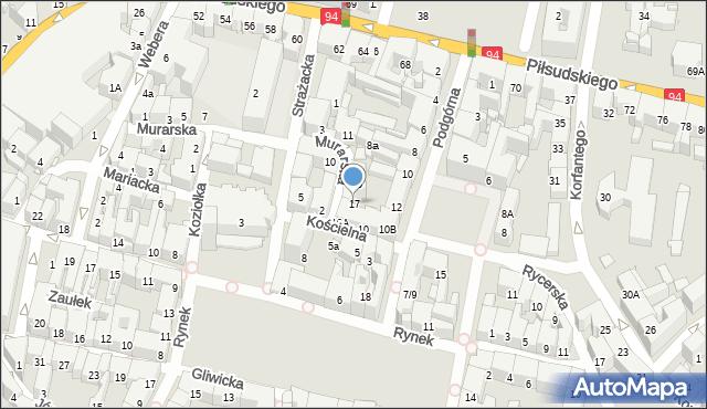 Bytom, Murarska, 17, mapa Bytomia