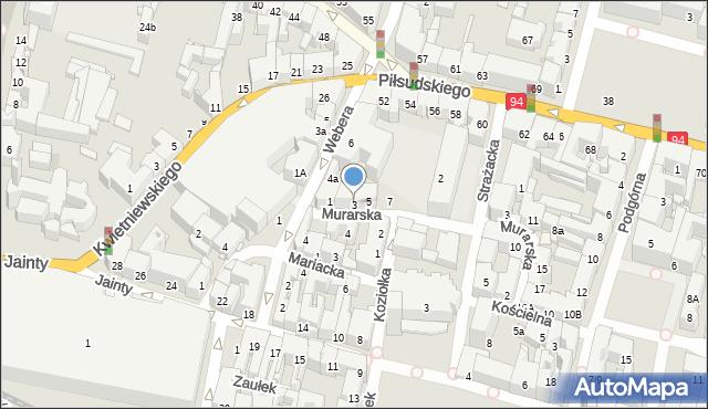 Bytom, Murarska, 3, mapa Bytomia