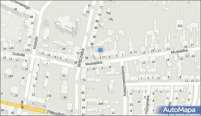 Bytom, Musialika Feliksa, 1, mapa Bytomia