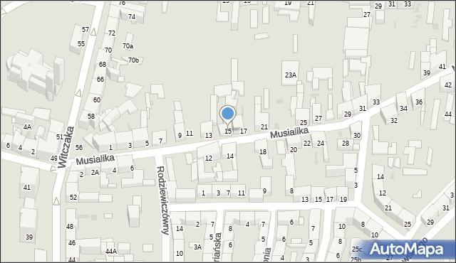Bytom, Musialika Feliksa, 15, mapa Bytomia