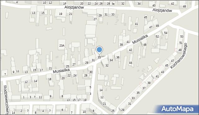 Bytom, Musialika Feliksa, 33, mapa Bytomia