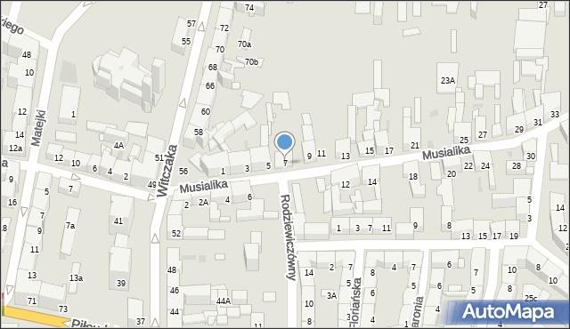 Bytom, Musialika Feliksa, 7, mapa Bytomia