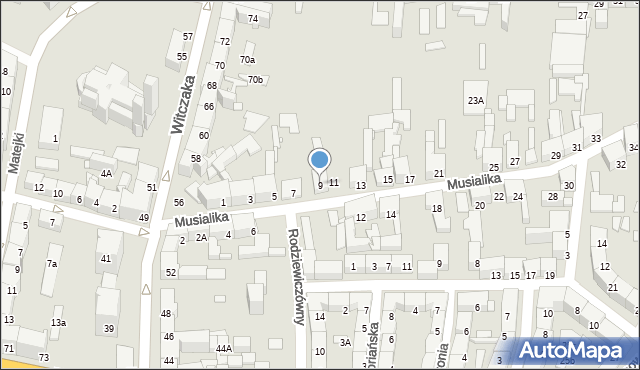 Bytom, Musialika Feliksa, 9, mapa Bytomia