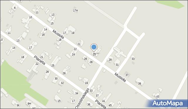 Bytom, Musioła, 25, mapa Bytomia