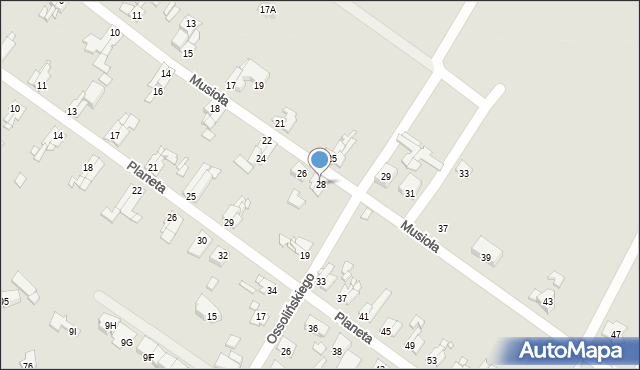 Bytom, Musioła, 28, mapa Bytomia