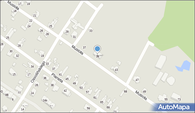 Bytom, Musioła, 39, mapa Bytomia