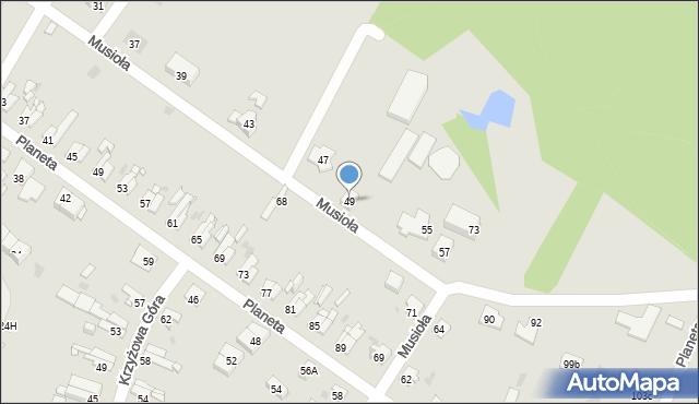 Bytom, Musioła, 49, mapa Bytomia