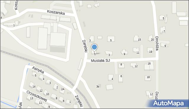 Limanowa, Musiała SJ Stanisława, ks., 1, mapa Limanowa