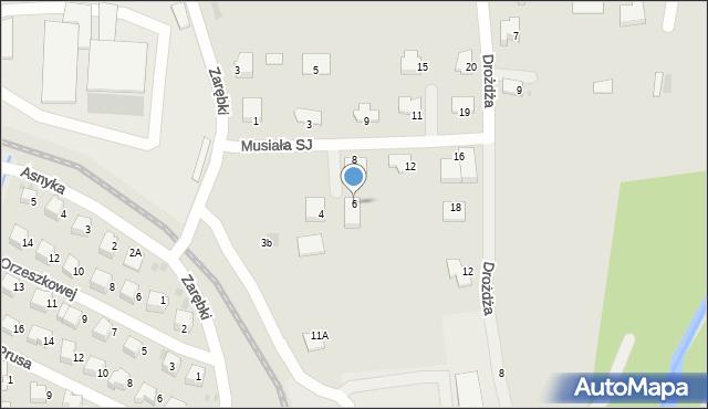Limanowa, Musiała SJ Stanisława, ks., 6, mapa Limanowa